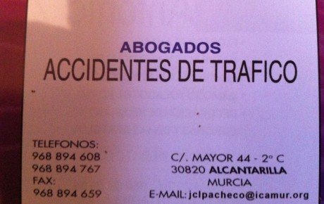 ABOGADOS ACCIDENTES DE TRÁFICO